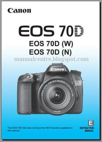 Canon EOS 70D Manual Cover