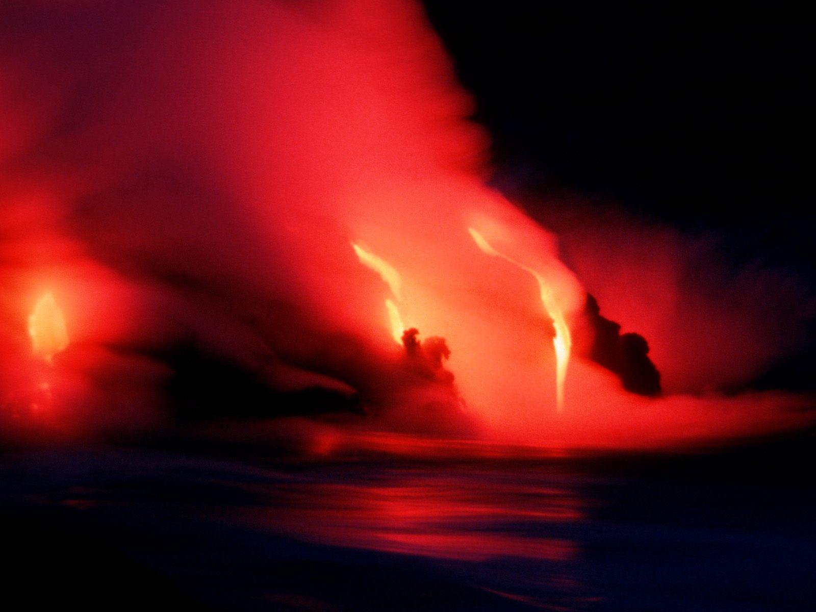 Mountain Eruption Wallpaper