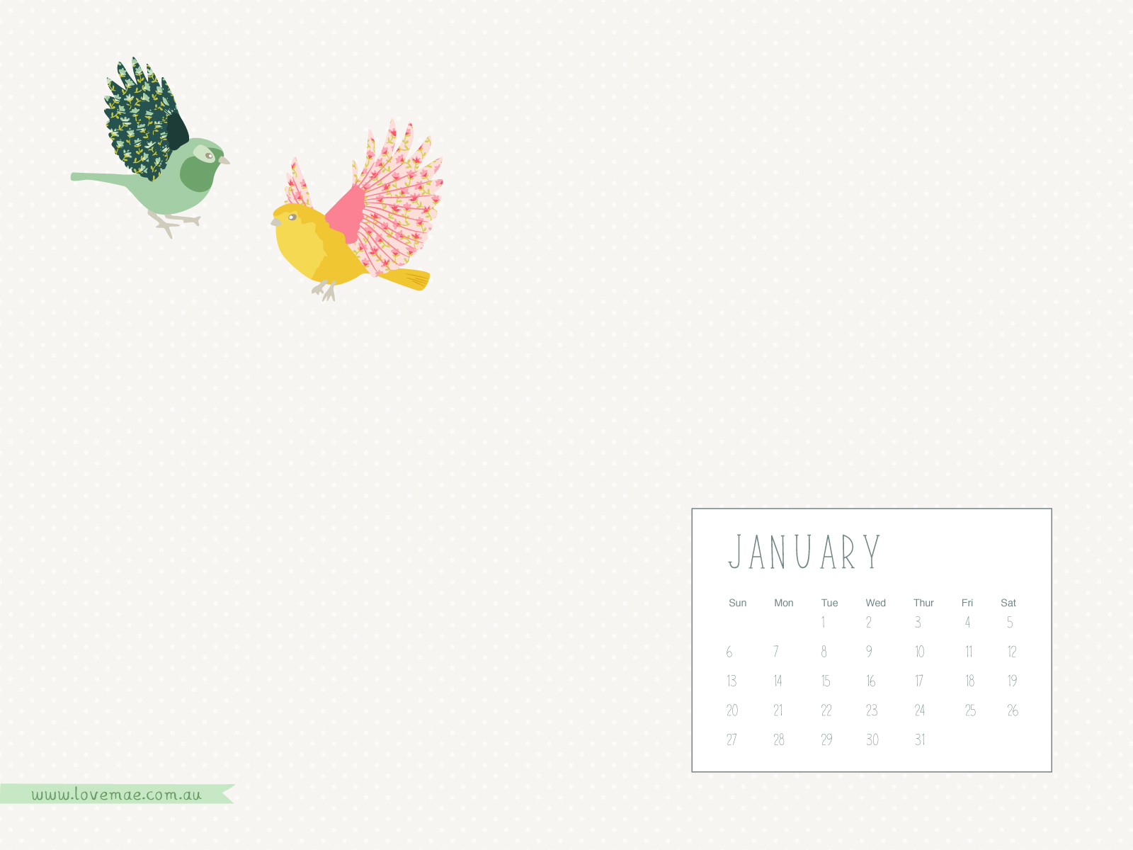 Calendar Wallpaper Love Mae : Desktop calendars january love mae