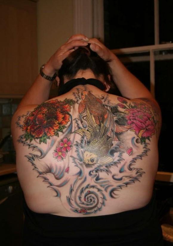 Full back tattoos for women tattoos art for Tattoos for girls on back
