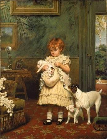 pintura de cachorros e manina