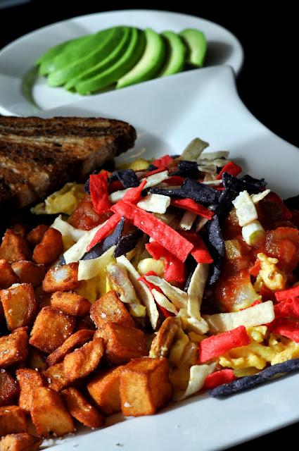 Migas Scramble with Avocado - BeanBath Cafe - Bath, PA | Taste As You Go
