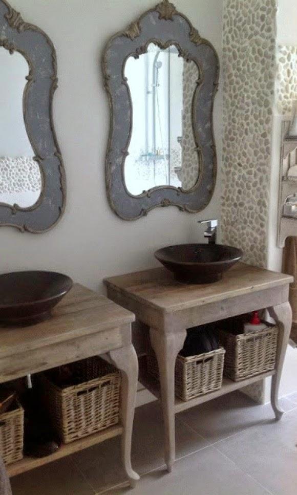 baño doble lavabo, doble espejo