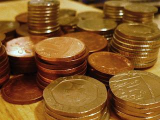 Piles of Pennies for Piggy Bank Kids