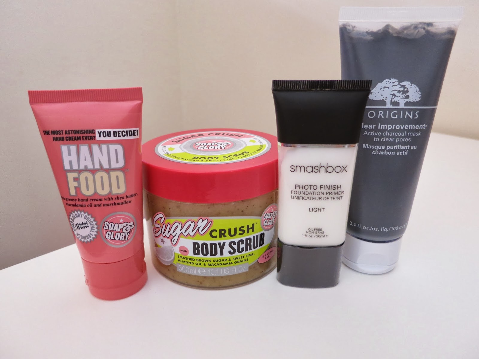 accessories and beauty haul, beauty haul, soap and glory, origins, smashbox, primer, body scrub, face mask, oily skin