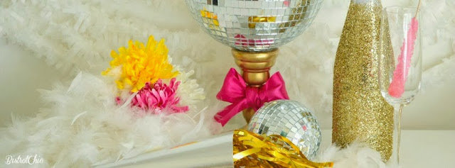 Sparkling Gold, Silver and Pink New Year's Eve by BistrotChic