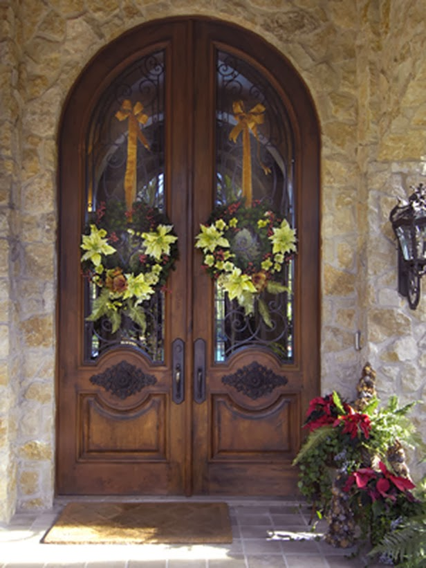 Modern furniture easy christmas wreaths 2014 ideas What to hang on front door for decor