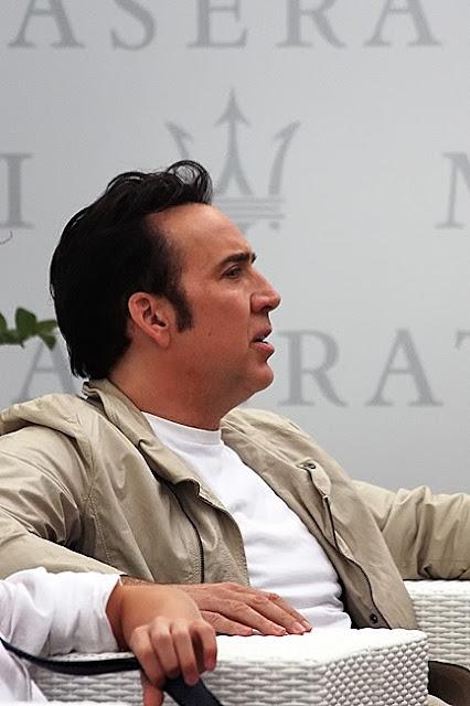 Nicolas Cage in Maserati terrace