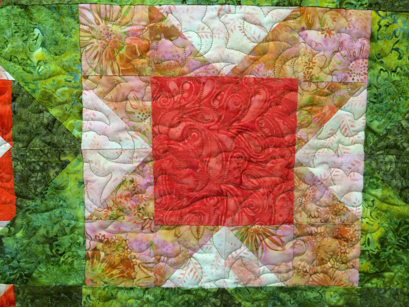Sue Lindsay's Batik Star Table Topper Quilt