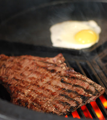buenos aires heart stopper, skirt steak, big green egg skirt steak recipe, grill dome skirt steak recipe