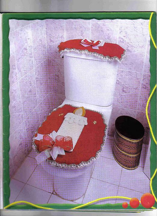Set De Baño Navideno Moldes:ARTESANATOS DA BEL: Jogos de banheiro para fazêr e usar no natal!