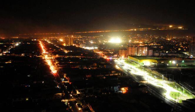 Suasana kota Iquique Saat evakuasi usai gempa chile