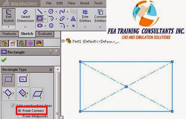 solidworks sketching corners option