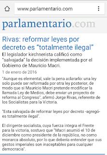 LEY DE MEDIOS, MAURICIO MACRI