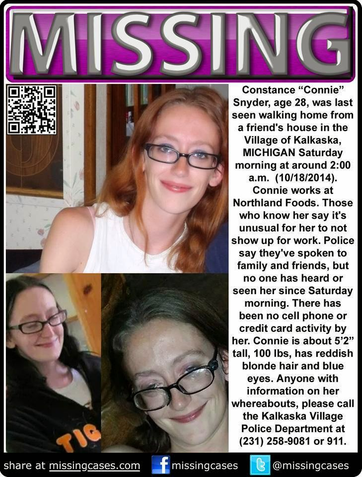 Connie Snyder Missing From