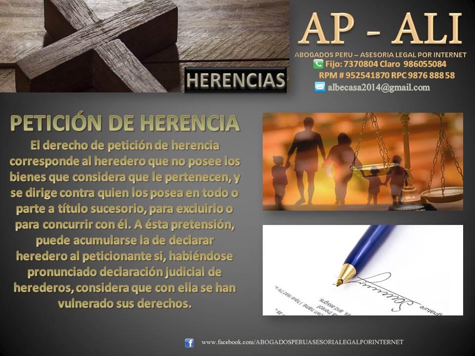 PETICIÓN DE HERENCIA