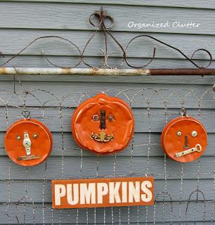 Junk Pumpkins www.organizedclutterqueen.blogspot.com