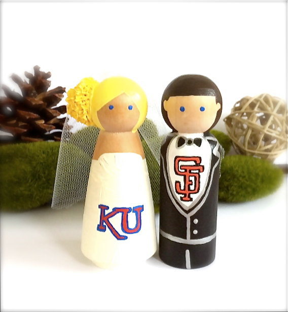 American Football Wedding Cake Toppers