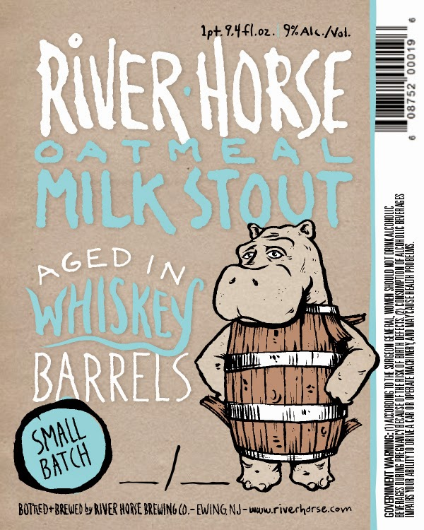 River Horse, Milk Stout, Whiskey Barrel Aged, New Jersey, Craft Beer