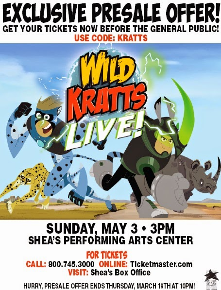 wild kratts live buffalo ny presale tickets