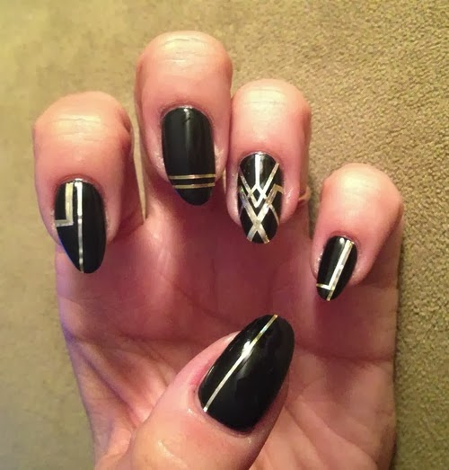 Patterns Using Tape Nail Art: Nail Art Striping Tape Ideas