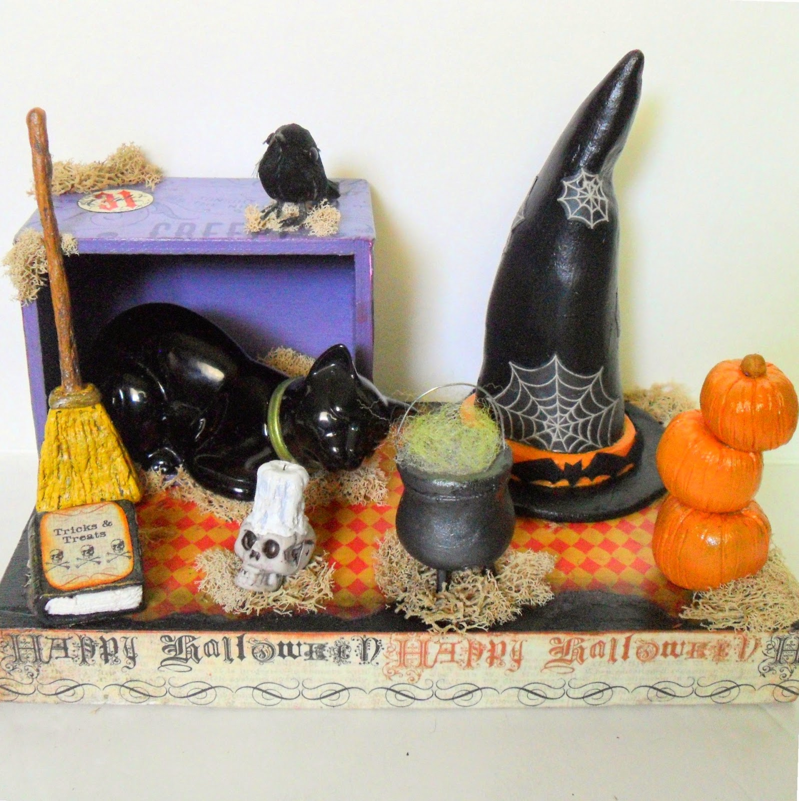 Halloween Witch Diorama