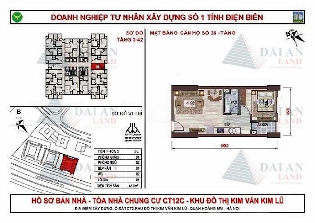 Căn 36 - Chung Cư Kim Văn Kim Lũ CT12C