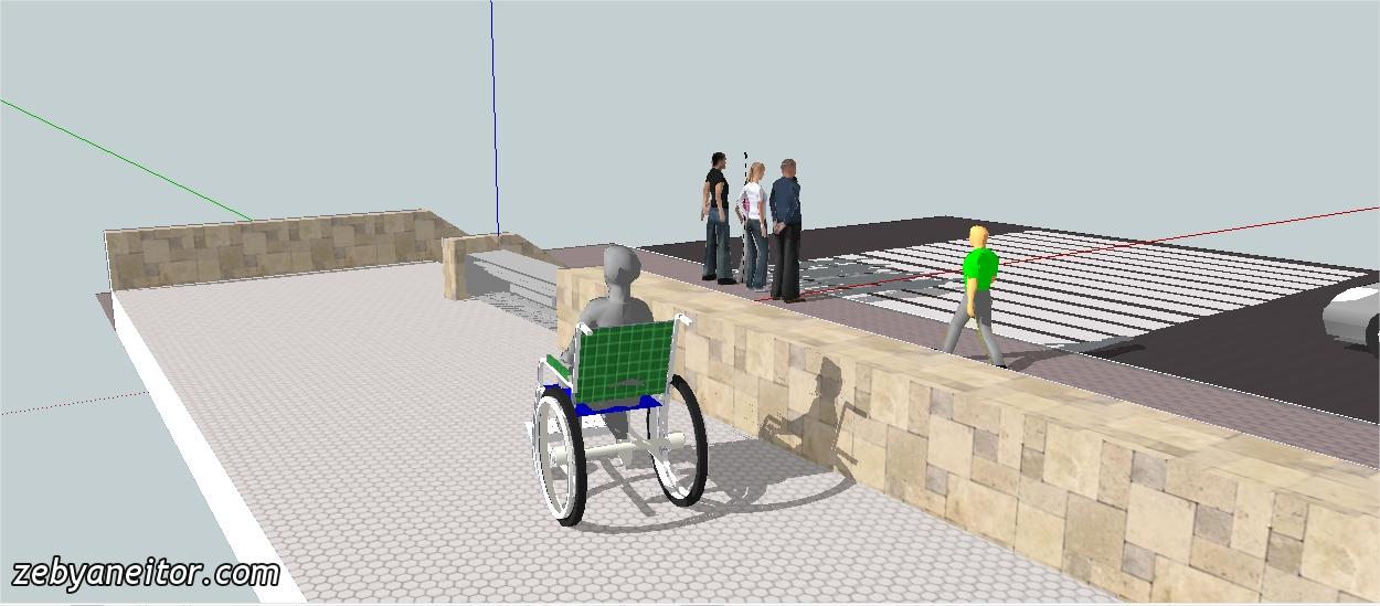 Idea rampa para discapacitados retr ctil con retenci n de for Rampa de discapacitados