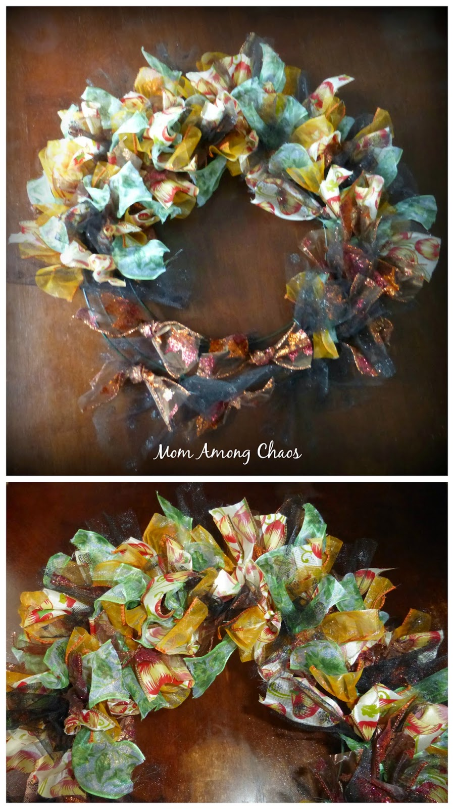 Halloween, wreath, diy, craft, fall, home, decoration