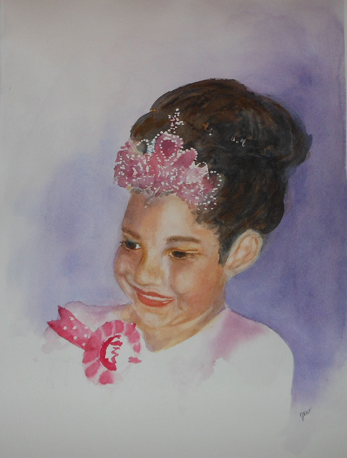 Watercolor art society of houston - I Attended Watercolor Portrait Painting Classes At The Watercolor Art Society Of Houston In Early November I Almost Completed The Portrait Of Rylee In The