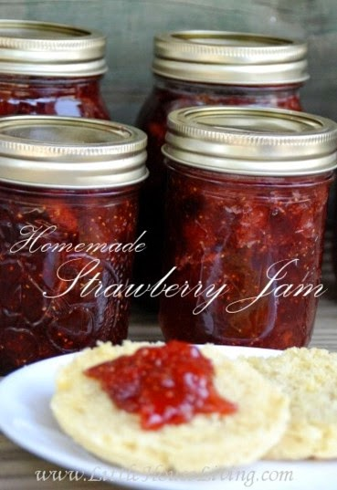 Homemade Strawberry Jam Recipe  @ Little House Living