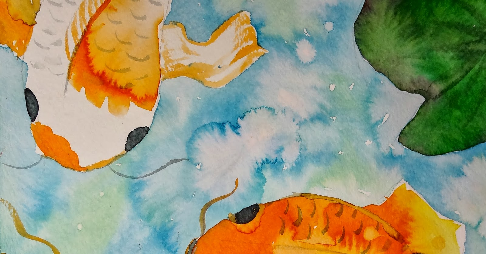 Art with krystie chinese koi fish watercolor paintings for Chinese koi fish painting