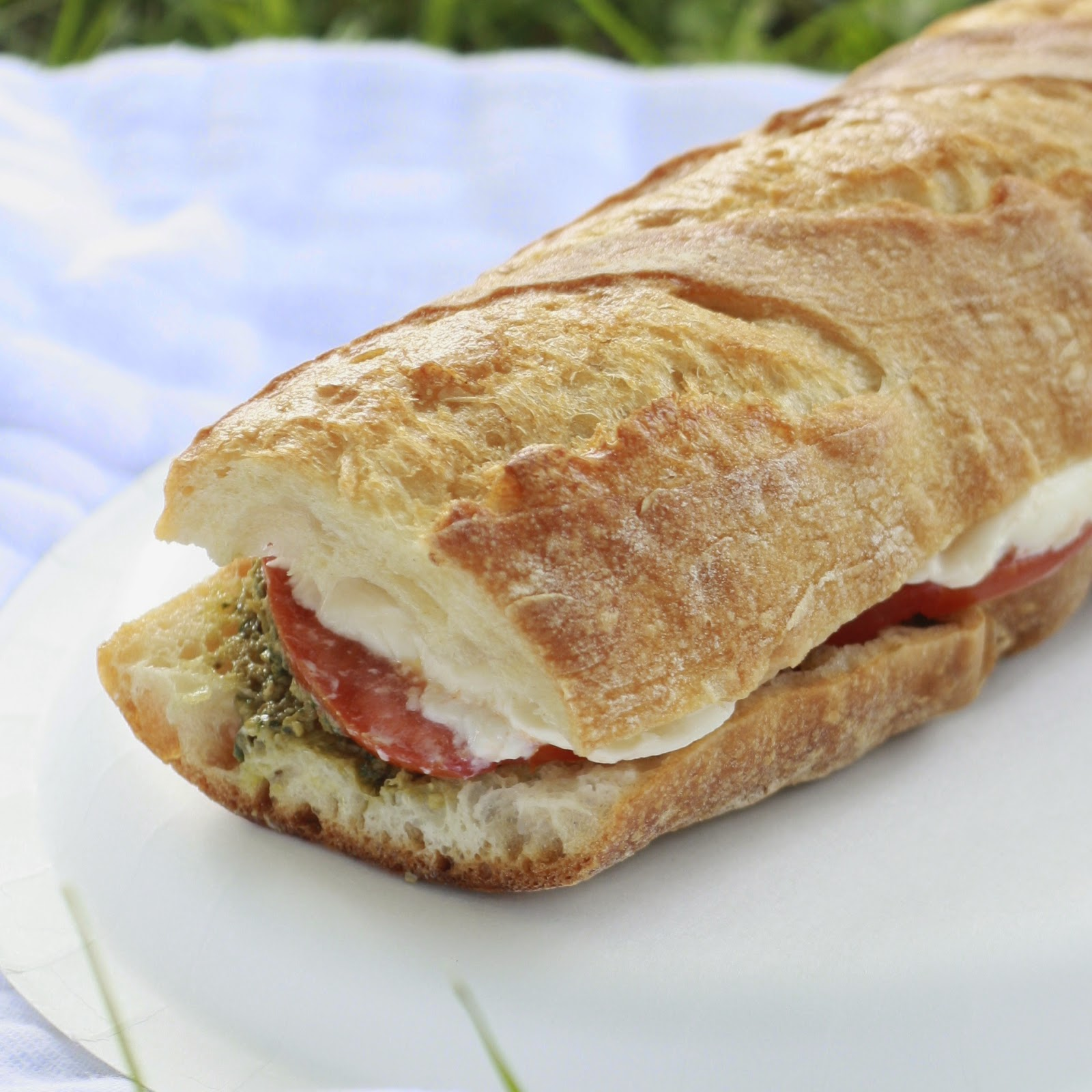 Pressed Caprese Sandwiches | The Sweets Life