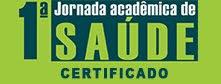 Certificado da I Jornada Acadêmica de Saúde