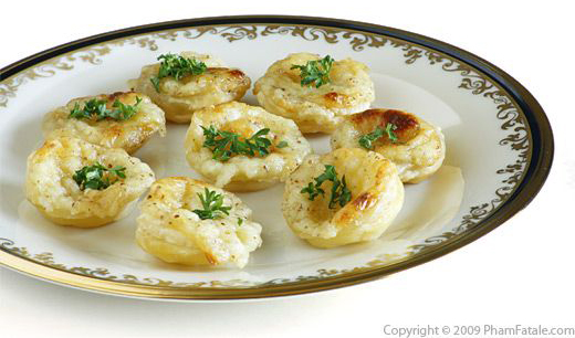3 camembert appetizers for Canape shells