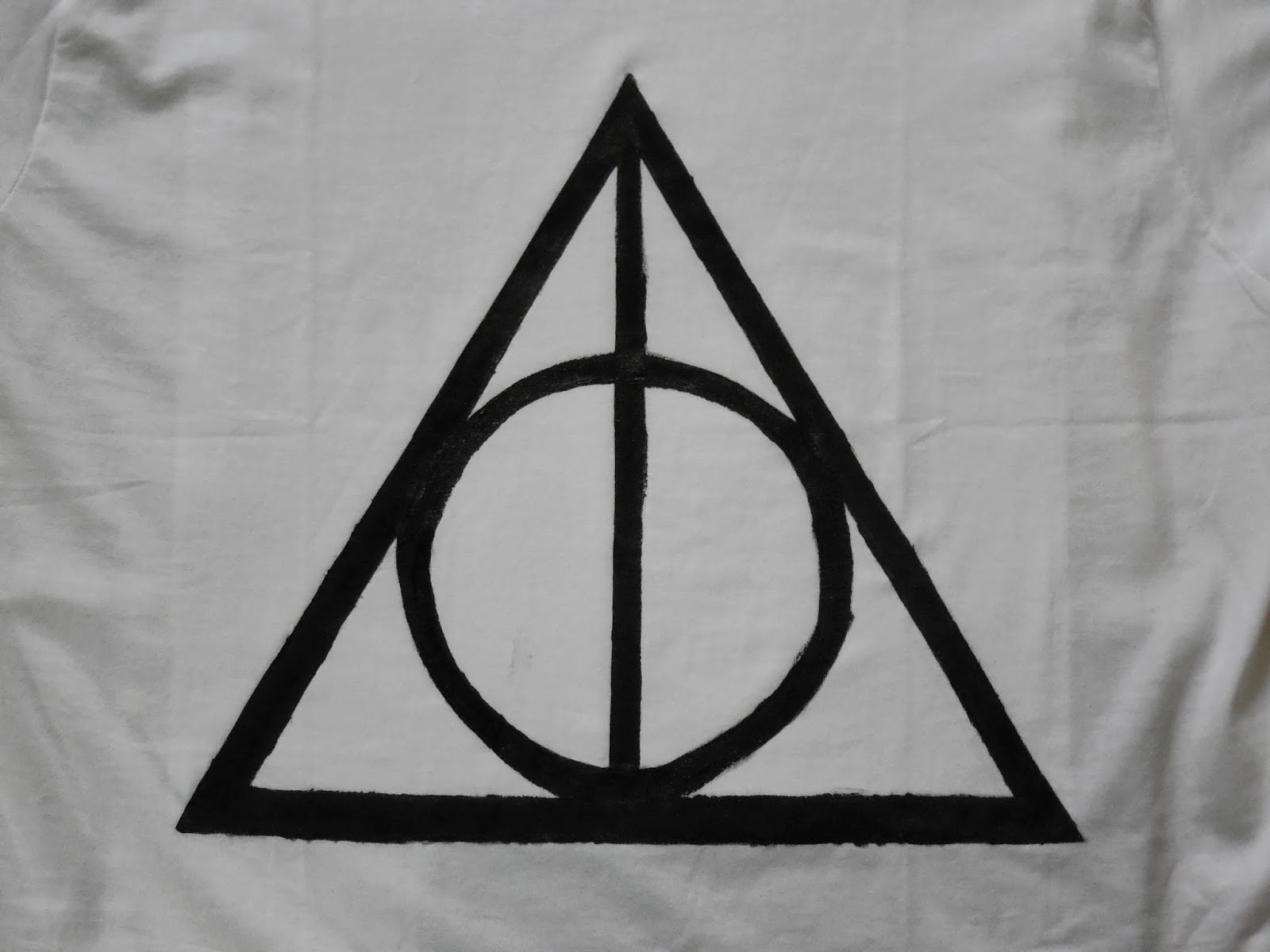 Theotherekta weekly project 1 harry potter deathly hallows t shirt close up of the deathly hallows symbol biocorpaavc