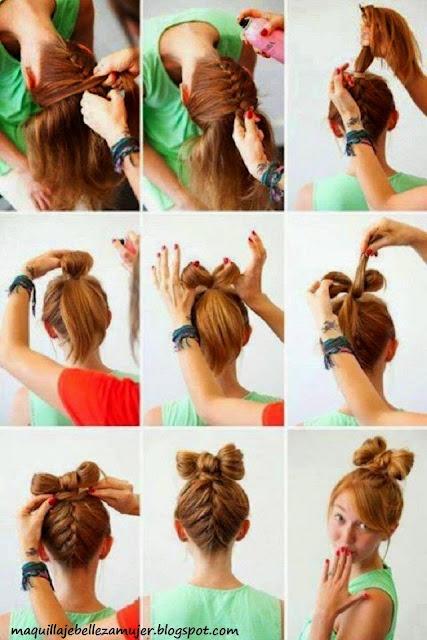 Peinados Sencillos y Fáciles para las Mujeres el pelo largo  - Peinados Para Pelo Largo Sencillos