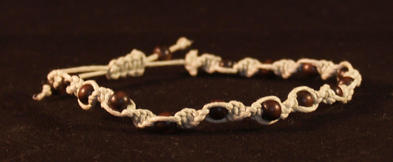 macrame bracelet natural