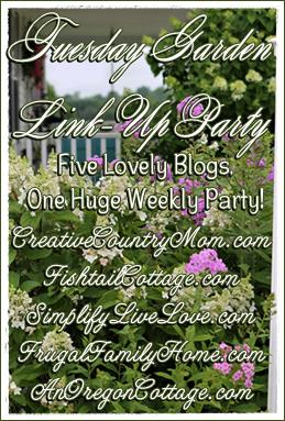 Tuesday Garden Party--- Right Here at Creative County Moms!