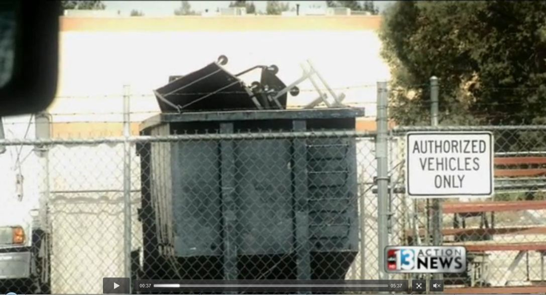 Ccsd Throwing Away Dumpsters Full Of Usable Furniture Nevada Policy Research Institute