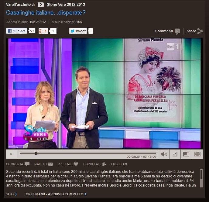 La mia intervista su RAI1