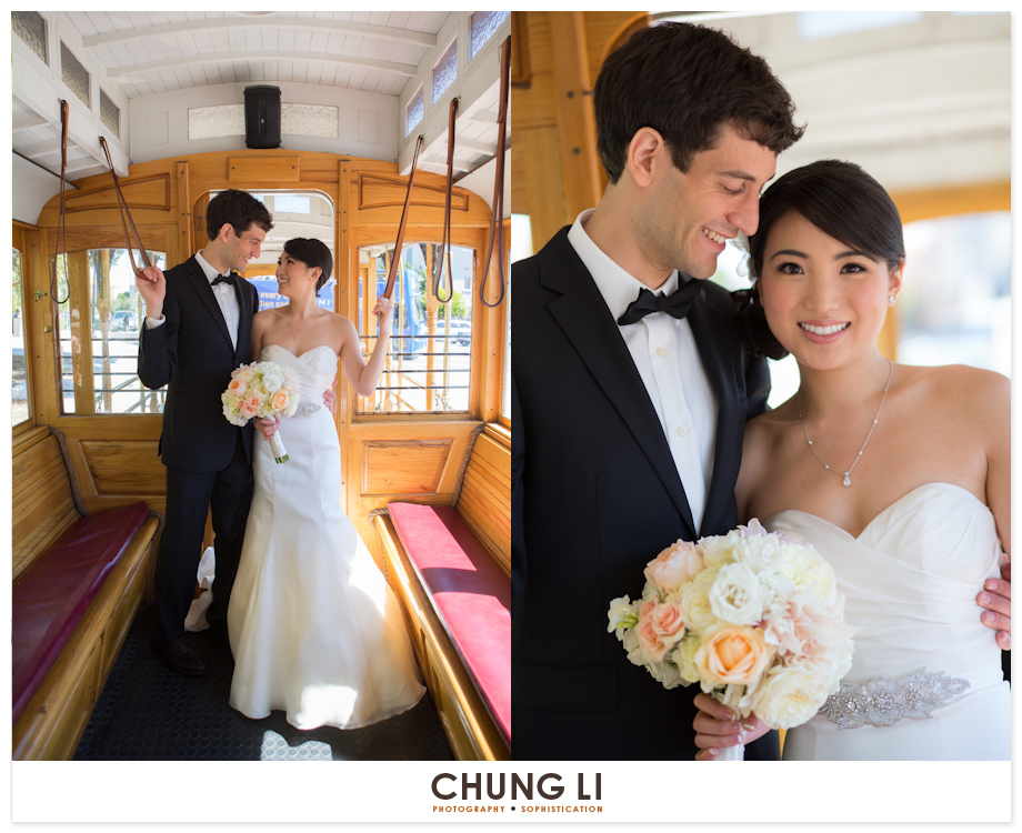 san francisco cable car flood mansion wedding