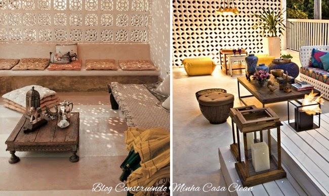 Construindo Minha Casa Clean Cobogós!!! Painéis Vazados na Decoraç u00e3o! -> Decoração De Ambientes Externos Fotos