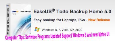 Computer Tips: Software Programs Updated Support Windows 8 and new Metro UI
