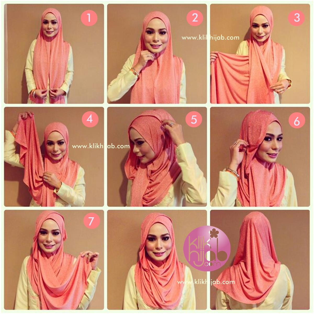 Fashionable hijab styles step by 65