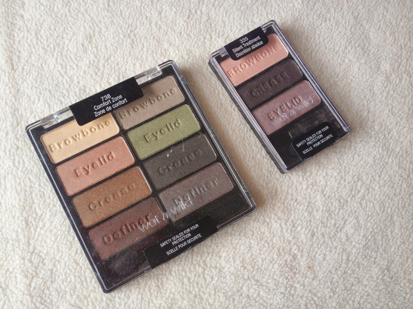 Wet n Wild Comfort Zone Colouricon Palette and Silent Treatment Trio