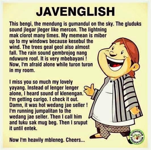 Ternyata Bahasa Jawa itu Mirip dengan Bahasa Asing