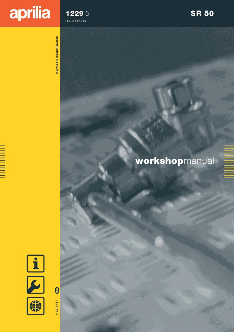 Filename: Aprilia SR Service Manual Language: English File : PDF Size: Mb