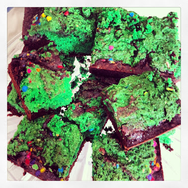 ST. PATTY'S DAY CAKE BATTER BROWNIES