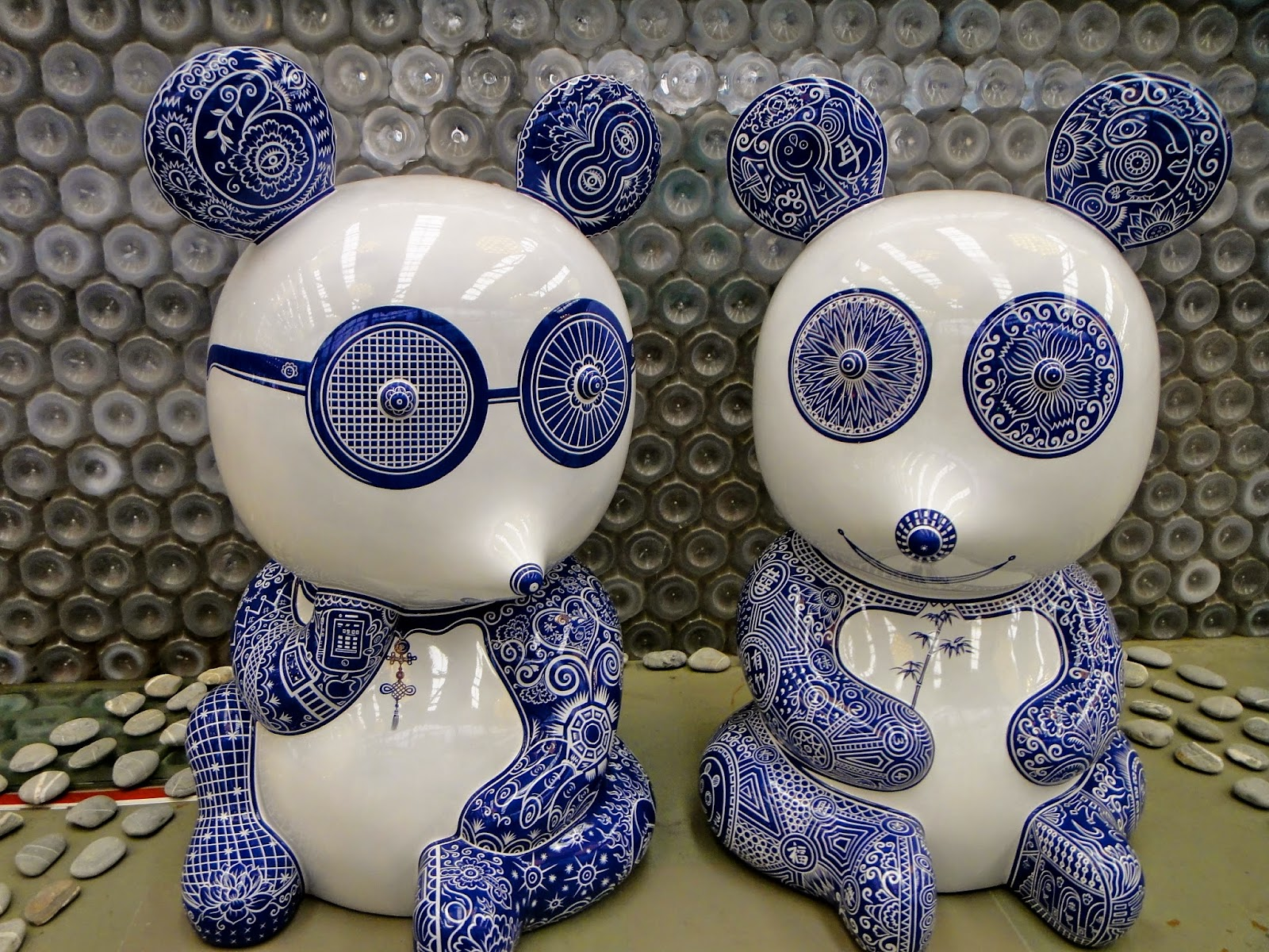 Porcelain pandas Taipei Expo Park